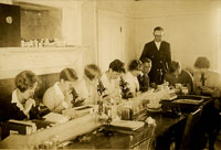 Students at Microscope
