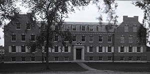 Fairchild Hall facade, taken by Clement Moran in September 1917.