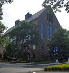 Holloway Commons, taken from across Main Street, July 2016.