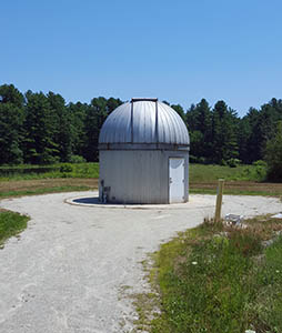 UNH Observatory from path, July 2016.