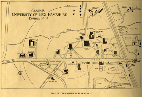 Map of UNH Campus 1924