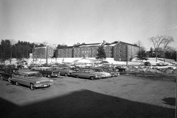 New Hampshire Hall parking 1960s