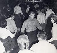 students dancing