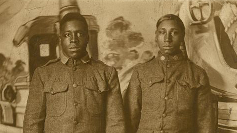 two men in military uniforms