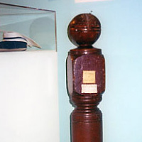 Newel post from Ballard Hall