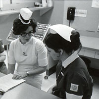 Nursing students in uniform