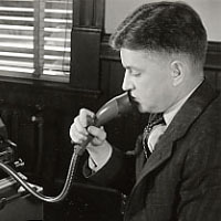 President stoke using an ediphone