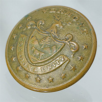 Civil War era coat button