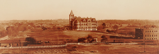 Photo of Thompson Hall, ca. 1895