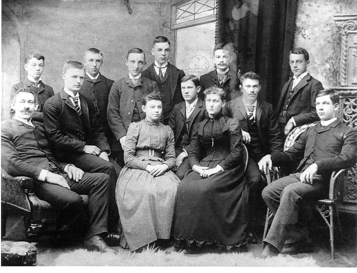 Class photo taken c. 1891