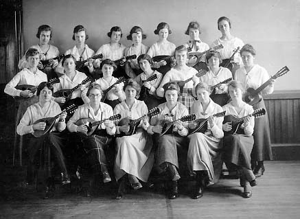 Group of women with mandolins