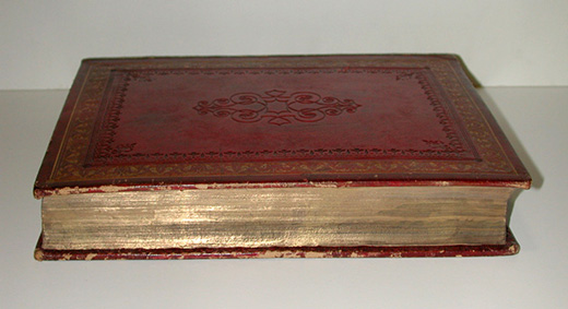 Book with gold leaf