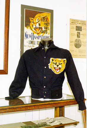 Coat with vintage UNH wildcat