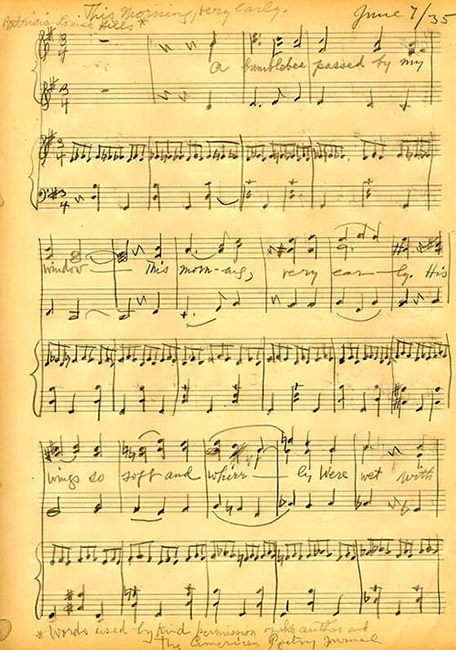 handwritten music