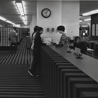 Library circulation desk 1969